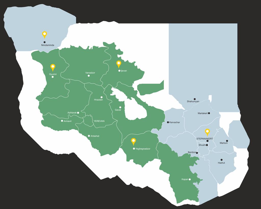Turpanjian Rural Development Program on tatev armenia map, yerevan armenia map, gyumri armenia map,
